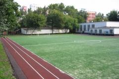Трава Saltex,школьный стадион г.Москва,ул.Шереметьевская